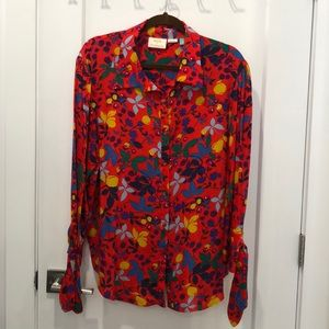 Maeve A+nthropolgie Red Floral Blouse never worn.